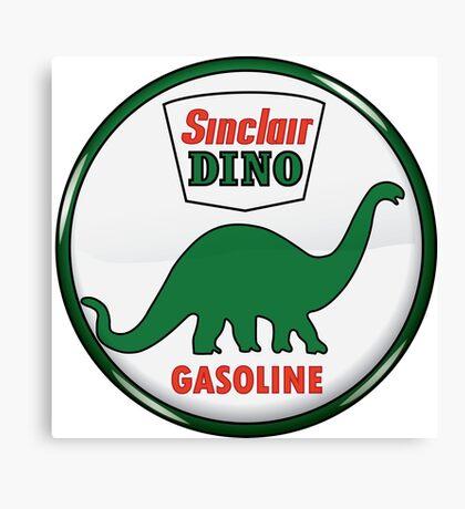 Sinclair Dino Gasoline vintage sign crystal vers. Canvas Print