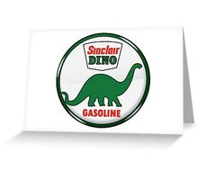 Sinclair Dino Gasoline vintage sign crystal vers. Greeting Card