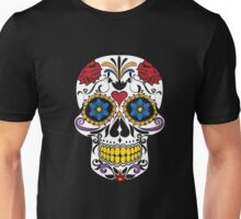 HALLOWEEN Large Fashion Floral Skull T-shirt,Luxury Tee Unisex T-Shirt