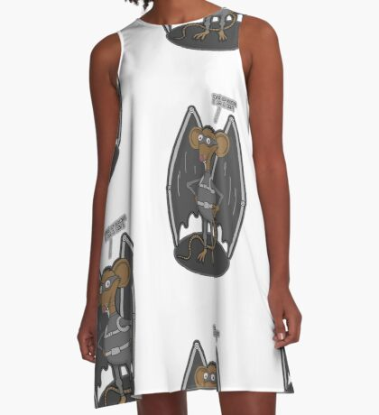 Yes, I am a bat ! A-Line Dress