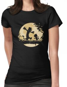 Cal-vin & Ho-bbes Halloween T-shirt Womens Fitted T-Shirt