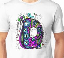 The Letter D  Alternative Coloured with Transparent Background Unisex T-Shirt