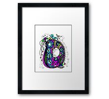 The Letter D  Alternative Coloured with Transparent Background Framed Print
