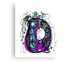 The Letter D  Alternative Coloured with Transparent Background Canvas Print