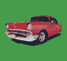 Chevy Bel Air 57 vector illustration Kids Clothes