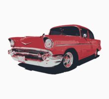 Chevy Bel Air 57 vector illustration One Piece - Long Sleeve