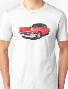 Chevy Bel Air 57 vector illustration T-Shirt