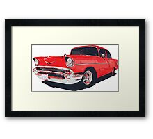 Chevy Bel Air 57 vector illustration Framed Print