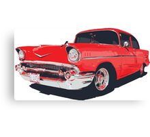 Chevy Bel Air 57 vector illustration Canvas Print