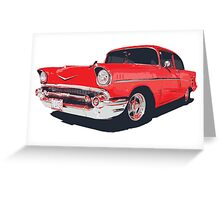 Chevy Bel Air 57 vector illustration Greeting Card