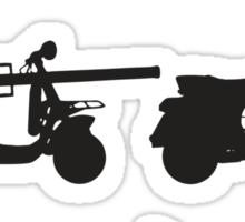 History of Vespa Sticker