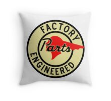 Pontiac Factory Parts vintage sign reproduction Throw Pillow
