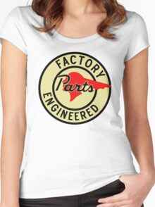 Pontiac Factory Parts vintage sign reproduction Women's Fitted Scoop T-Shirt