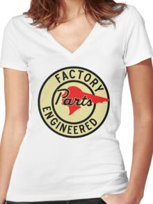 Pontiac Factory Parts vintage sign reproduction Women's Fitted V-Neck T-Shirt