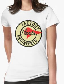 Pontiac Factory Parts vintage sign reproduction Womens Fitted T-Shirt