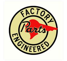 Pontiac Factory Parts vintage sign reproduction Art Print