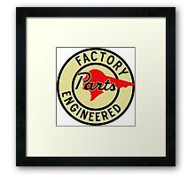 Pontiac Factory Parts vintage sign reproduction Framed Print