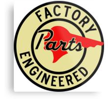 Pontiac Factory Parts vintage sign reproduction Metal Print