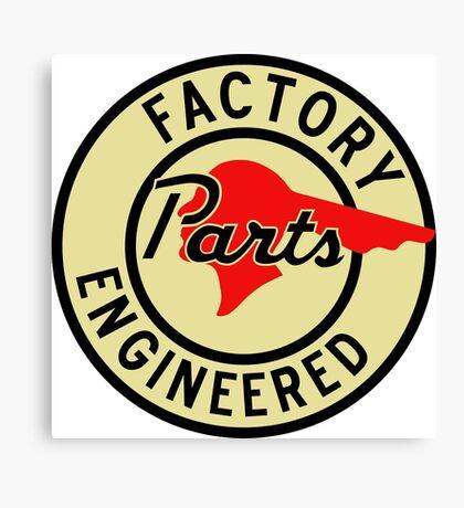 Pontiac Factory Parts vintage sign reproduction Canvas Print