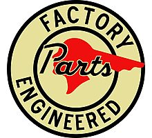 Pontiac Factory Parts vintage sign reproduction Photographic Print