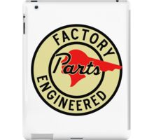 Pontiac Factory Parts vintage sign reproduction iPad Case/Skin