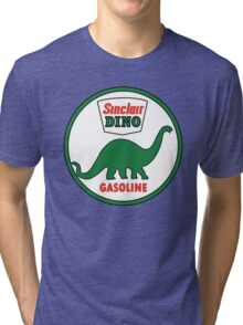 Sinclair Dino Gasoline vintage sign flat version Tri-blend T-Shirt