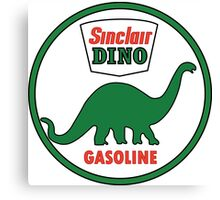 Sinclair Dino Gasoline vintage sign flat version Canvas Print