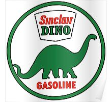 Sinclair Dino Gasoline vintage sign flat version Poster