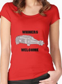 Whiners Welcome Women's Fitted Scoop T-Shirt