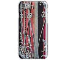 Detail of an old iron fence iPhone Case/Skin
