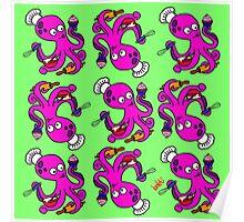 Baker Octopus Pattern Poster
