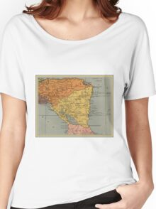 1937 Nicaragua map design - Central America - Caribbean Sea - Vintage map gift Women's Relaxed Fit T-Shirt