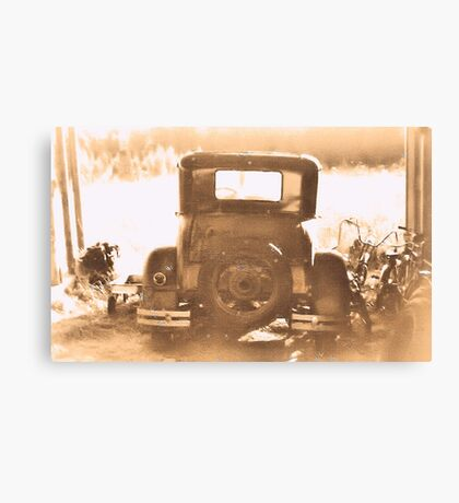 """Tin Lizzie... Rear View""... prints and products Canvas Print"