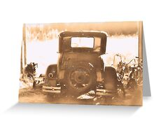 """Tin Lizzie... Rear View""... prints and products Greeting Card"