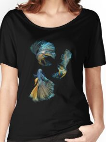 Blue Siamese Betta Fish Women's Relaxed Fit T-Shirt