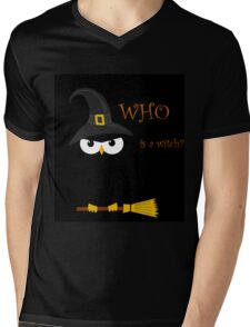 Who is the witch? Mens V-Neck T-Shirt