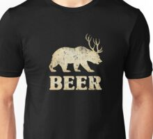 Vintage Bear Deer Beer T-shirt Unisex T-Shirt
