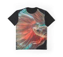 Irish Siamese Betta Fish Graphic T-Shirt