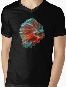 Irish Siamese Betta Fish Mens V-Neck T-Shirt