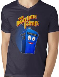 Brave Little Tardis Mens V-Neck T-Shirt