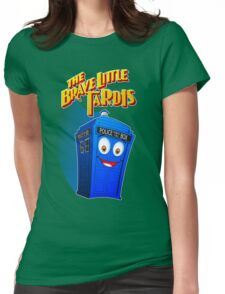 Brave Little Tardis Womens Fitted T-Shirt