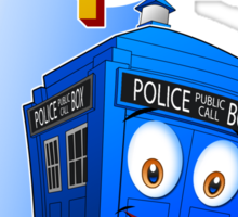 Brave Little Tardis Sticker
