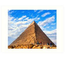 Wonders of Antiquity - Egyptian Pyramid Art Print