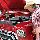 """""""Checkin' Out This Baby, a 1951 Chevy Truck""""... prints and products by © Bob Hall"""