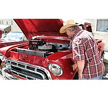 """Checkin' Out This Baby, a 1951 Chevy Truck""... prints and products Photographic Print"