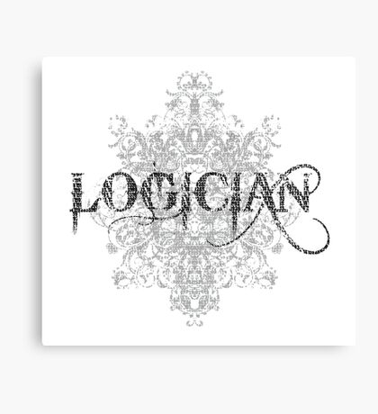 Logician At Work Canvas Print