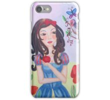 Princess with Apple and bird iPhone Case/Skin