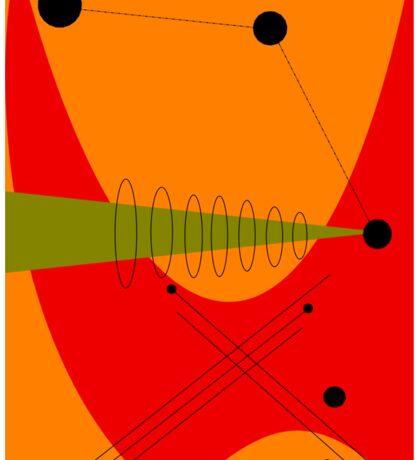 Mid-Century Modern Abstract in Orange Sticker