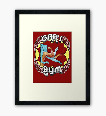 Gan's Gym - vintage Framed Print