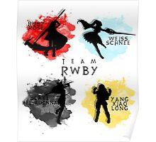 Team RWBY Silhouette  Poster